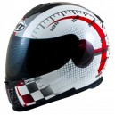 CASQUE MT HELMETS THUNDER LIGHTNING MAX POWER BLANC