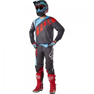 TENUE FOX RACING FLEXAIR SECA GRIS/ROUGE 2017