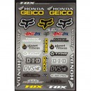 PLANCHE STICKERS FOX RACING RACE